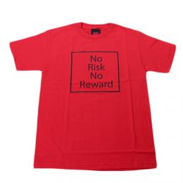 "am/aftermidnight NYC エーエム""NO RISK NO REWORD S/S TEE"" 【RED】"