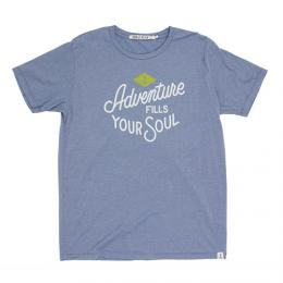 "IRON&RESIN アイアン&レジン ""FILLY YOUR SOUL TEE S/S""【WASHED BLUE】"