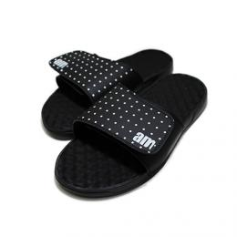 "am/aftermidnight NYC エーエム""POLKA DOT ISLIDE SLIPPERS"" 【Black】"