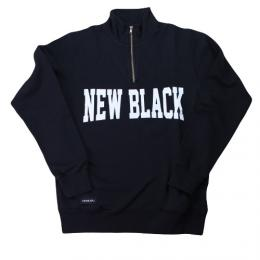 "NEW BLACK ニューブラック""CAMPUS HALF ZIP CREW ""【NAVY】"