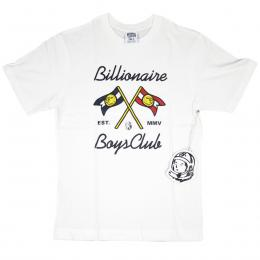 BILLIONAIRE BOYS CLUB/FLAG TEE (White)