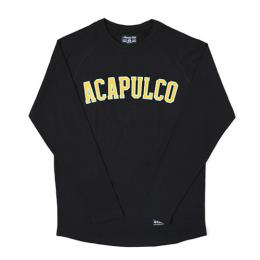 ACAPULCO GOLD ARC RAGLAN LONG SLEEVE [BLACK]