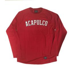 ACAPULCO GOLD ARC RAGLAN LONG SLEEVE [RED]