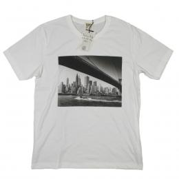 ROSSER RIDDLE/BROOKLYN BRIGDE TEE [WHITE]