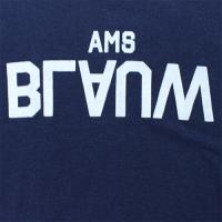 "Scotch & Soda ""Ams Blauw Brand Tee with Neppy base""【NAVY】"