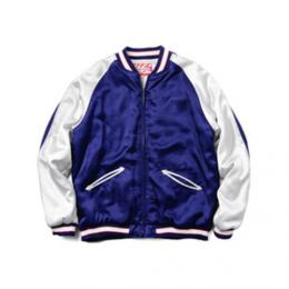 "HOUSTON WOMENS ""50446 SOUVENIR JACKET"" 【NAVY】"