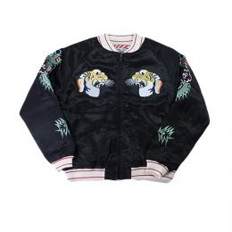 "HOUSTON WOMENS ""HOUSTON #50432 TIGER SOUVENIR JACKET"" 【BLACK】"