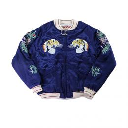 "HOUSTON WOMENS ""HOUSTON #50432 TIGER SOUVENIR JACKET"" 【NAVY】"