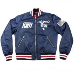 AVIREX NYLON ZIP AWARD JACKETナイロンジャケット(6252055) 【Navy】