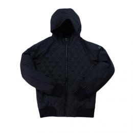 Scotch & Soda(スコッチ&ソーダ)Short quilted jacket in mix & match wool and nylon quality 【Black】101368