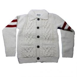 "HOUSTON ヒューストン USA""Hand Knit Cardigan【White】"