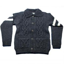 "HOUSTON ヒューストン USA""Hand Knit Cardigan【BLACK】"