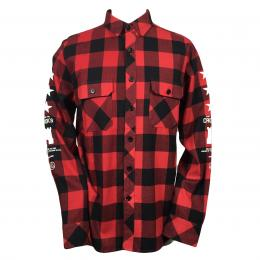 CROOKS&CASTLES WOVEN PLAID SHIRT[RED PALID] 40%off