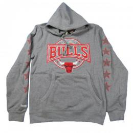 MITCHELL&NESS CHICAGO BULLS HOODIE 【Grey】