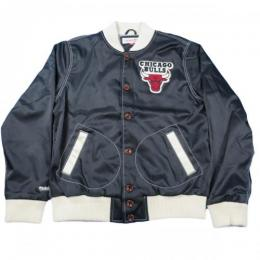 MITCHELL&NESS CHICAGO BULLS Jacket 【Black】