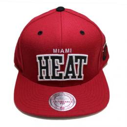 MITCHELL&NESS ミッチェル & ネス MIAMI HEAT SNAP BACK CAP